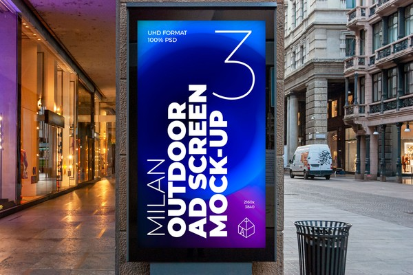 Milan Outdoor Advertising Screen Mock-Ups 2