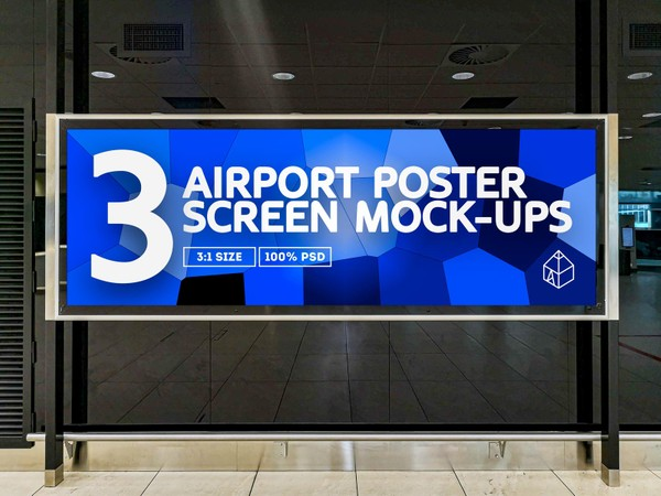 Airport Ad Screen Mock-Ups 4