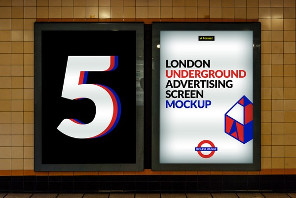 London Underground Advertising Screen Mock-Ups 3