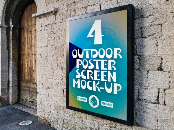Outdoor Poster Screen Mock-Ups