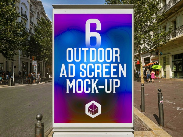 Outdoor Advertising Screen Mock-Ups 14 (v.1)