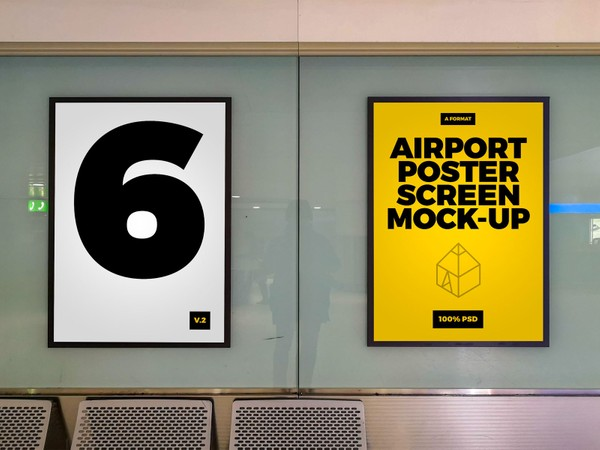 Airport Poster Screen Mock-Ups 2