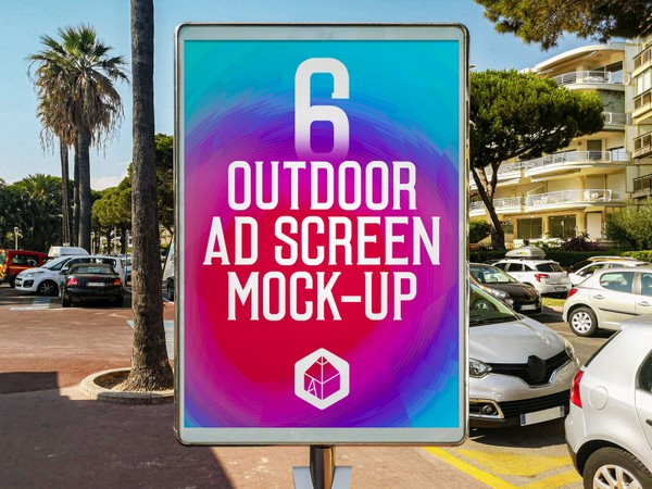 Outdoor Advertising Screen Mock-Ups 13 (v.2)