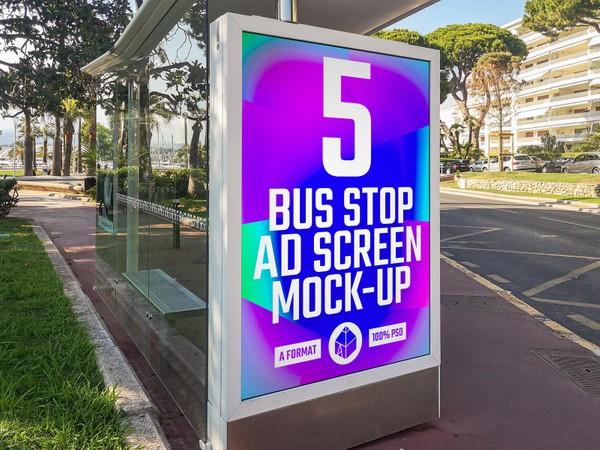 Bus Stop Advertising Screen Mock-Ups 6