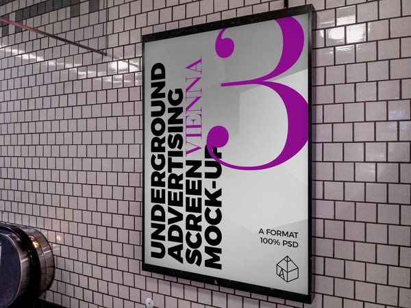 Vienna Underground Advertising Screen Mock-Ups 5