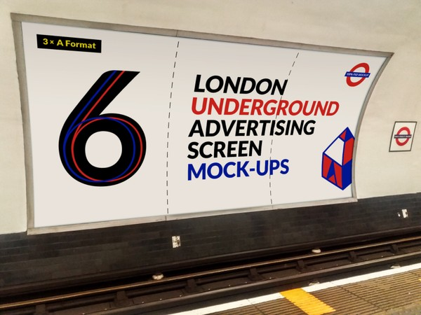 London Underground Advertising Screen Mock-Ups 4