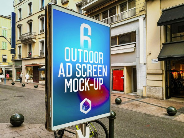 Outdoor Advertising Screen Mock-Ups 13 (v.3)