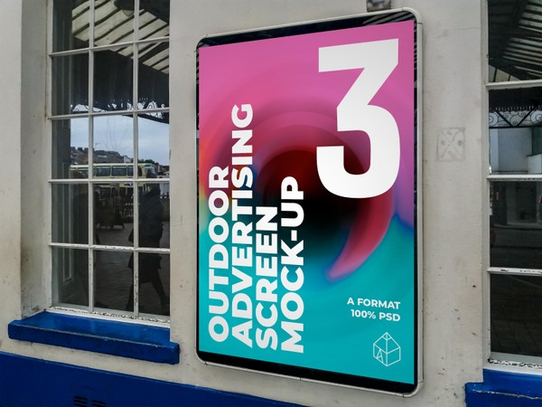Outdoor Advertising Screen Mock-Ups 17