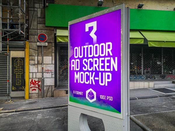Outdoor Advertising Screen Mock-Ups 11 (v.3)