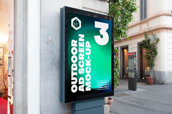 Outdoor Advertising Screen Mock-Ups 15 (v2)