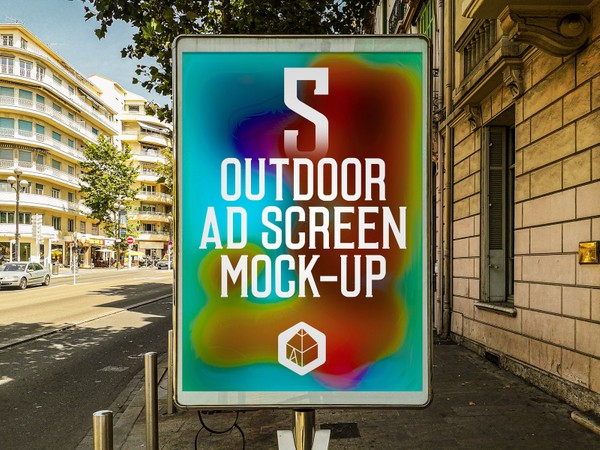 Outdoor Advertising Screen Mock-Ups 12 (v.2)