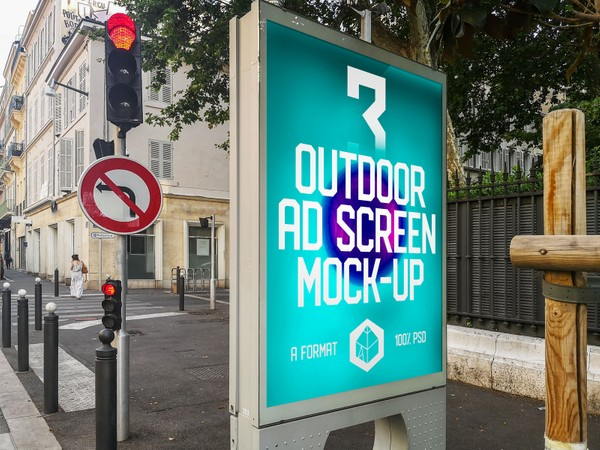 Outdoor Advertising Screen Mock-Ups 11 (v.2)