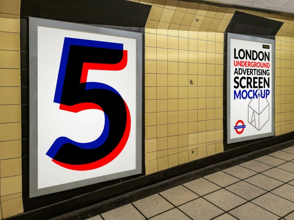 London Underground Advertising Screen Mock-Ups 5