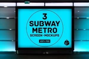 Subway Metro Screen Mockups