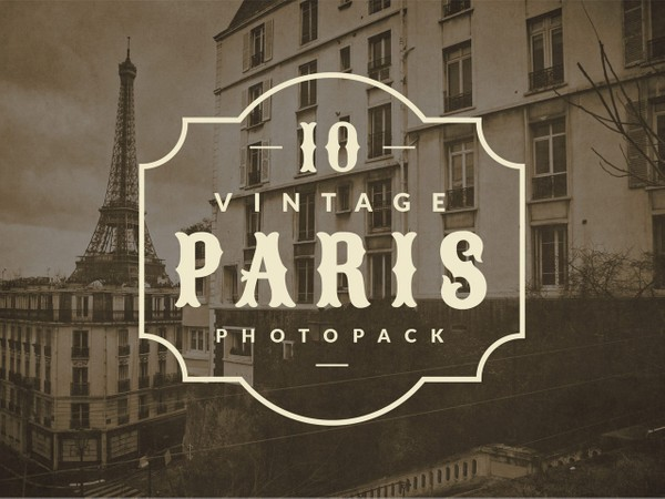Vintage Paris Photopack