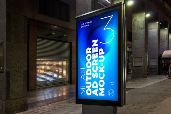 Milan Outdoor Advertising Screen Mock-Ups 6