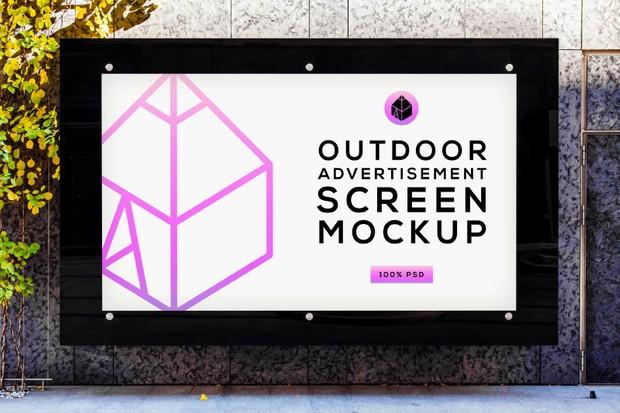 Outdoor Advertising Screen Mock-Ups 4