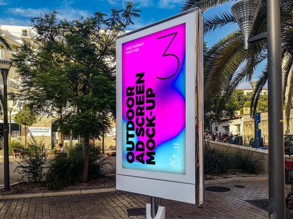 Outdoor Advertising Screen Mock-Ups 9
