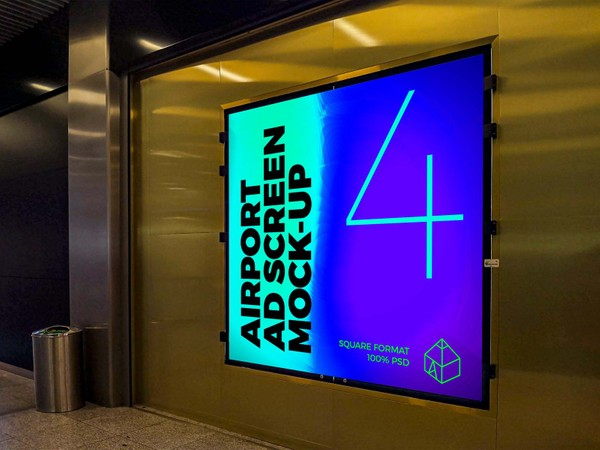 Airport Ad Screen Mock-Ups 8
