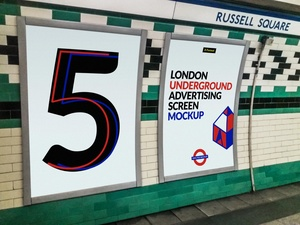 London Underground Advertising Screen Mock-Ups 2