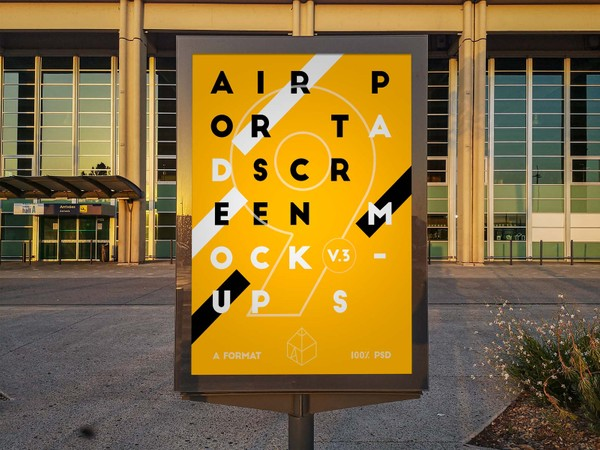 Airport Ad Screen Mock-Ups 3