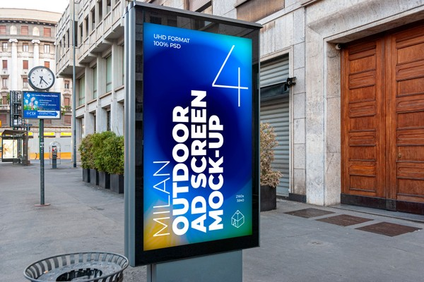 Milan Outdoor Advertising Screen Mock-Ups 1