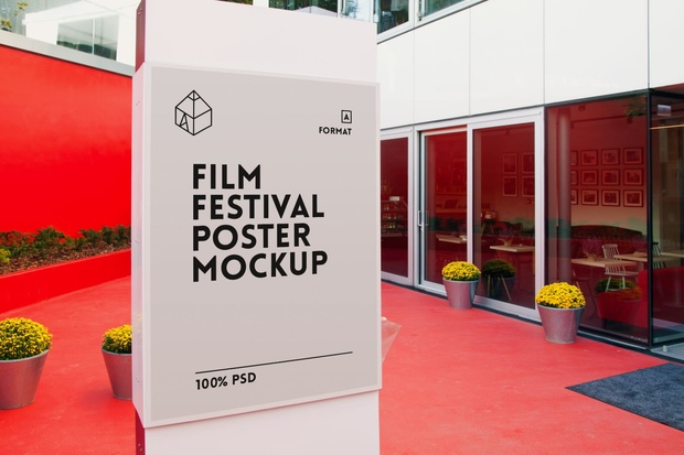 film festival poster mockups graphic shelter