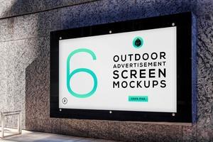 Outdoor Advertising Screen Mock-Ups 5