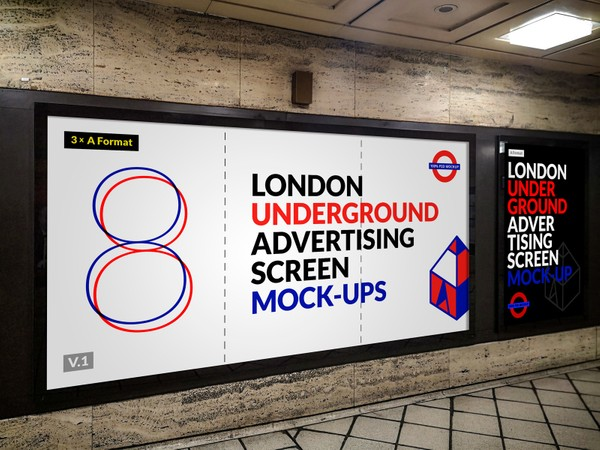 London Underground Advertising Screen Mock-Ups 9