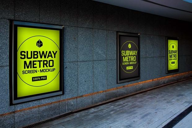 Free Subway Metro Screen Mock-Up 2