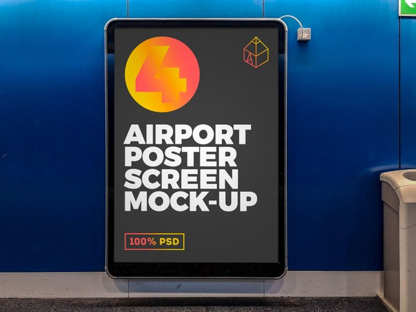 Airport Poster Screen Mock-Ups 3