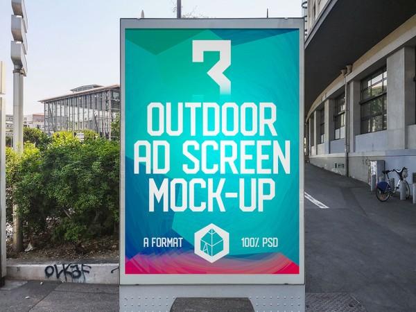 Outdoor Advertising Screen Mock-Ups 11 (v.1)