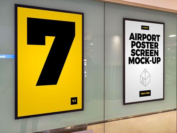 Airport Poster Screen Mock-Ups