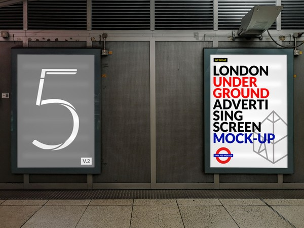 London Underground Advertising Screen Mock-Ups 8
