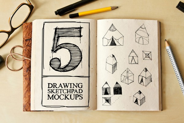 Drawing Sketch Pad Mockups