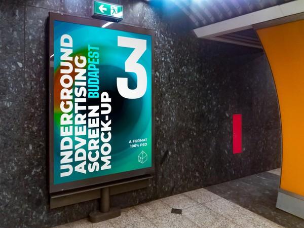 Budapest Underground Ad Screens Mock-Ups 2