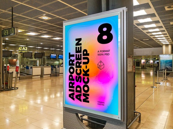 Airport Ad Screen Mock-Ups 5