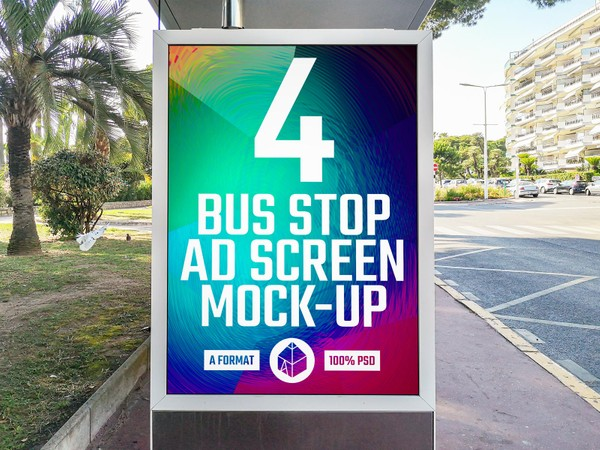 Bus Stop Advertising Screen Mock-Ups 7
