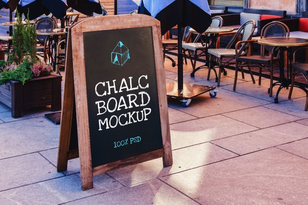 Free Chalk Board Mock-Up