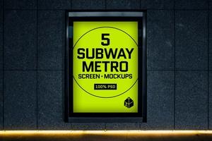 Subway Metro Screen Mock-Ups 2