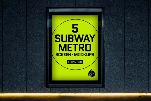 Subway Metro Screen Mock-Ups 2
