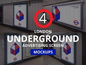 London Underground Advertising Screen Mockups