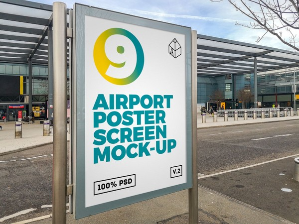 Airport Poster Screen Mock-Ups 5