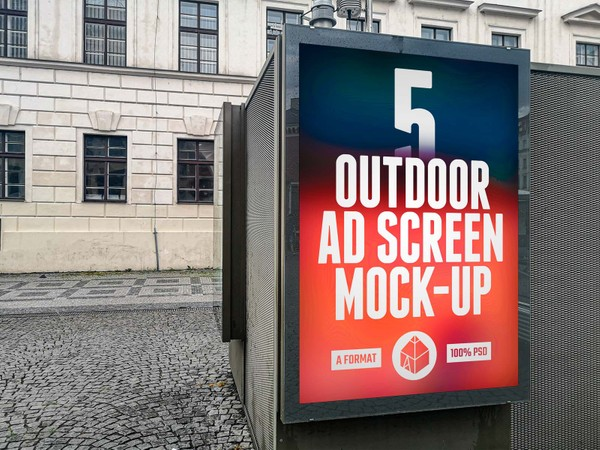 Outdoor Advertising Screen Mock-Ups 10