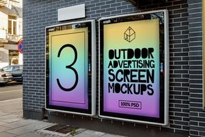 Outdoor Advertising Screen Mock-Ups 3