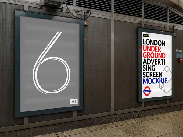 London Underground Advertising Screen Mock-Ups 7