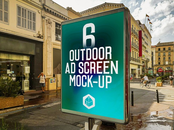 Outdoor Advertising Screen Mock-Ups 13 (v.5)