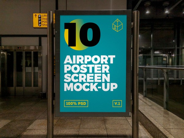 Airport Poster Screen Mock-Ups 4
