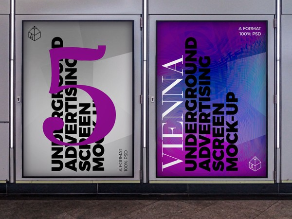 Vienna Underground Advertising Screen Mock-Ups 4