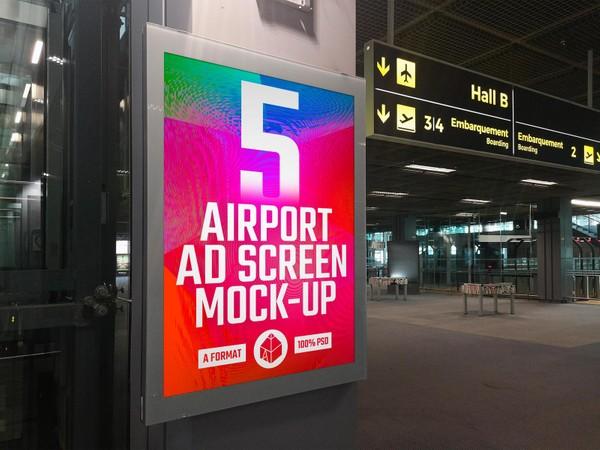 Airport Poster Screen Mock-Ups 10